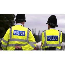Куртка POLICE короткая, светоотражающая. Британия