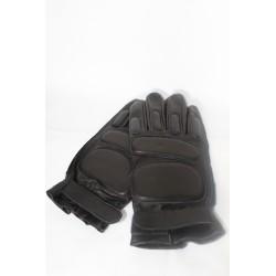 Перчатки тактические кожаные с пальцами
