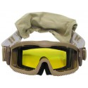 Армейская защитная маска, coyote (3 сменных линзы)