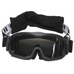 Армейская защитная маска, черная (3 сменных линзы)